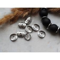 Бусины-разделители металлические 10 мм. Цвет серебро