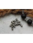 Бусины металлические трубочки 7*3 мм. Цвет черненое серебро