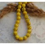 Бусины стеклянные под камень желтые. 10 мм