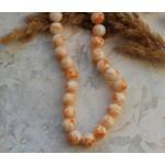 Бусины стеклянные под камень бело-оранжевые. 10 мм