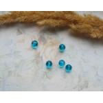 Бусины граненые стеклянные темно-голубые