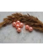 Бусины пластиковые под жемчуг персиковые. 10 мм