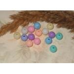 Бусины пластиковые разноцветные 8 мм. 10 шт
