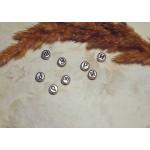 Бусины с буквами русскими серебристые 100 шт