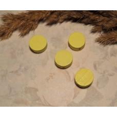 Бусина деревянная плоская Шайба желтая 12*6 мм