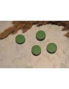 Бусина деревянная плоская Шайба зеленая 12*6 мм