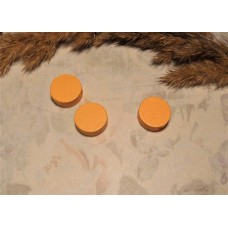 Бусина деревянная плоская Шайба оранжевая 12*6 мм
