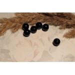 Бусины пластиковые черные 8 мм