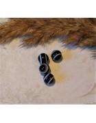 Бусины пластиковые глазки черные 6 мм