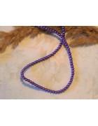 Бусины стеклянные под жемчуг фиолетовые 3 мм.10 шт