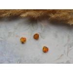 Стеклянные бусины миллефиори в форме сердца желтые. 8 мм