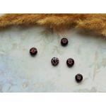 Стеклянные бусины миллефиори круглые коричневые. 8 мм