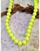 Бусины стеклянные лимонного цвета 10 мм
