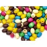 Бусины-рисинки деревянные разноцветные 6*4 мм. 10 шт