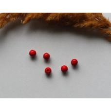Бусины каменные бирюза красные 6 мм