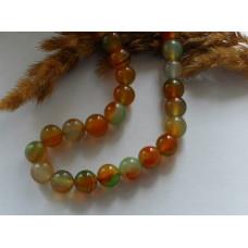 Бусины каменные агат коричнево-зеленых оттенков 10 мм