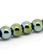 Бусины каменные гематит зеленые 8 мм