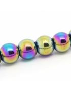 Бусины каменные гематит радужные 8 мм