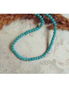 Бусины каменные бирюза голубые 4 мм