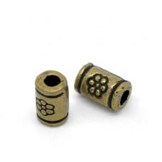Бусины металлические 5*3 мм. Цвет бронза