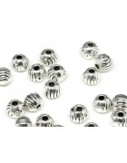 Бусины разделители металлические круглые с волнами 4 мм