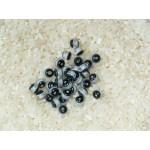 Бусины пластиковые прозрачно-черные 6 мм