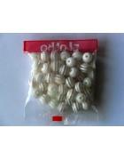 Бусины пластиковые круглые прозрачно-белые 12 мм