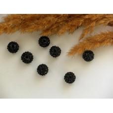 Бусины для Шамбалы черные 10 мм