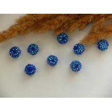 Бусины для Шамбалы синие 10 мм