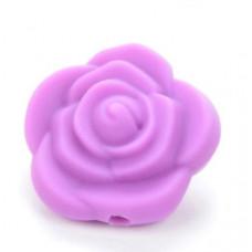 Бусина силиконовая Цветок фиолетовая 21*21*19 мм