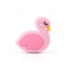 Бусина силиконовая Фламинго розовый 29*30 мм