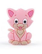 Бусина силиконовая Котенок розовый 29*20 мм
