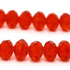 Бусины стеклянные красные 8*6 мм