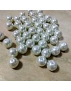 Бусины стеклянные под жемчуг белые 10 мм