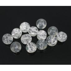 Бусины стеклянные кракле прозрачные 6 мм