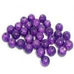 Бусины стеклянные кракле фиолетовые 8 мм