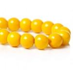 Бусины стеклянные желтые 8 мм