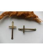 Коннектор большой Крест 51*22 мм. Цвет бронза