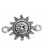 Коннектор Солнце 23*16 мм. Цвет черненое серебро