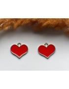 Подвеска с эмалью Сердце 17*20 мм