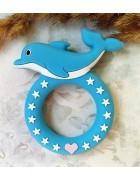 Грызунок прорезыватель Дельфин голубой