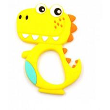 Грызунок прорезыватель Динозавр желтый