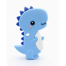 Грызунок прорезыватель Динозавр с сердечком голубой