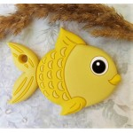 Грызунок прорезыватель Рыбка желтая 92*70*10 мм