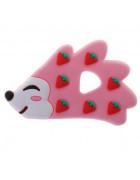 Грызунок прорезыватель Ежик розовый