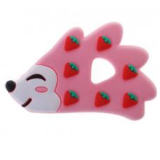 Грызунок прорезыватель Ежик розовый 85*50 мм