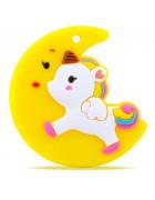 Грызунок прорезыватель Единорог на луне желтый