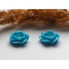 Кабошон Роза голубая 18 мм