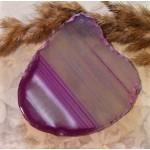 Натуральный агат прозрачно-малиновый
