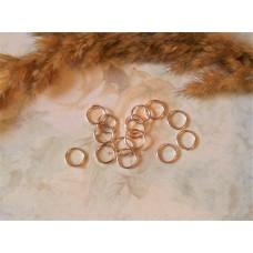 Колечки соединительные 8 мм. Цвет розовое золото. 10 шт